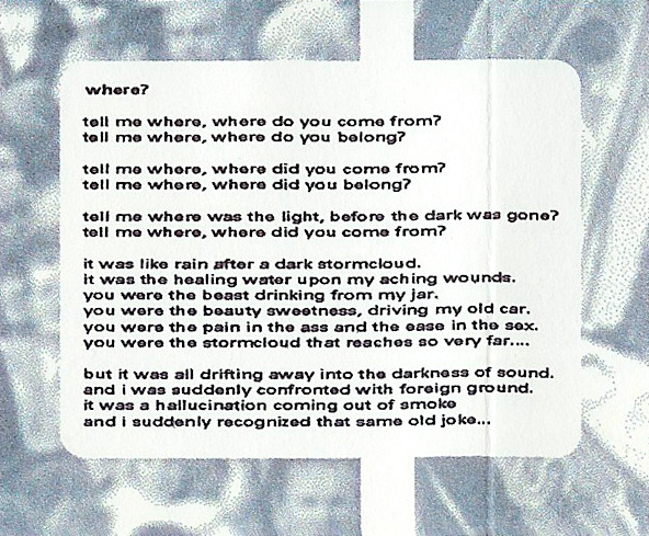 T-ACHE God on the Ladder - Retrospective 91 - 97, Album Cover, excerpt, where? lyrics print