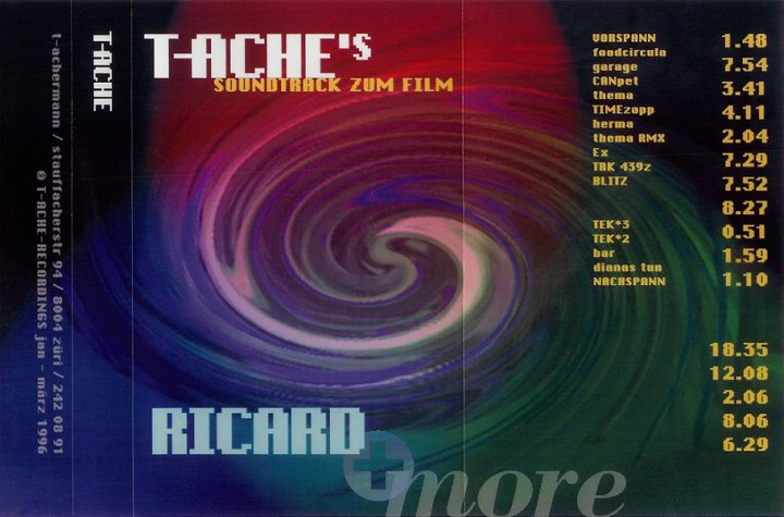 "T-ACHE's soundtrack zum Film ""Ricard"" 1996, Album Cover"